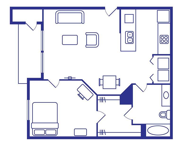 1 Bedroom, 1 Bath Apartments Norman Ok