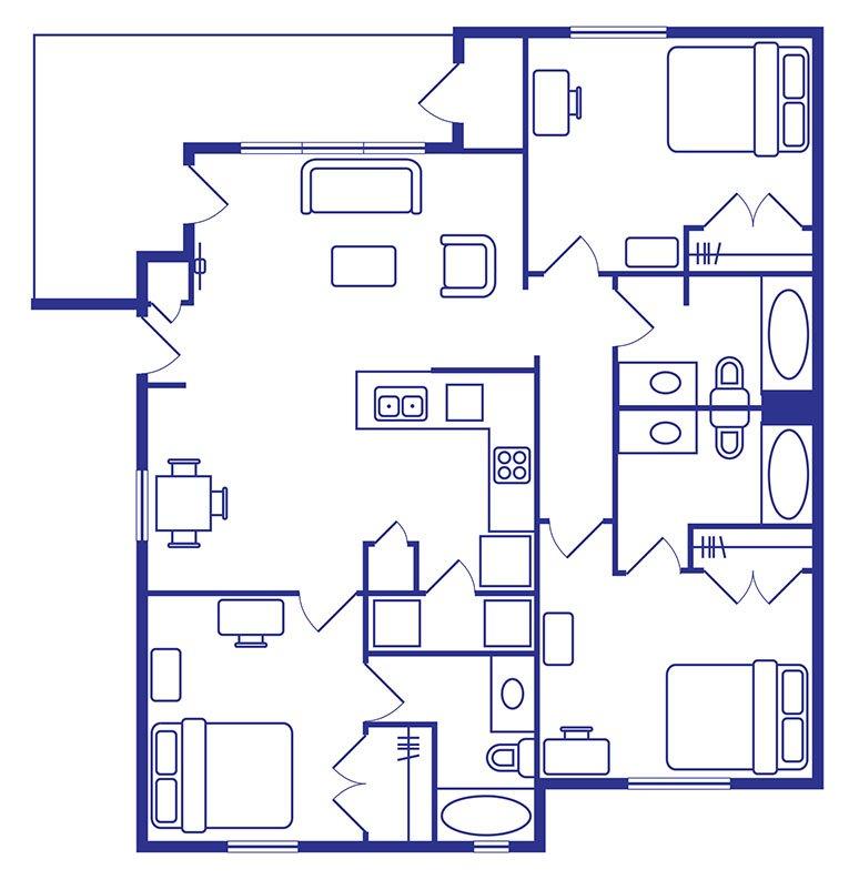 3 Bedroom, 2 Bath Apartments Norman Ok